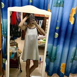 Halter white chiffon dress