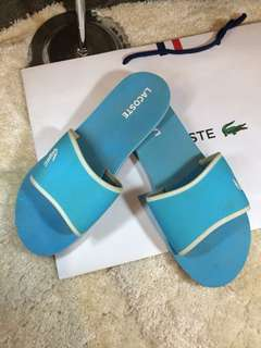 Authentic Lacoste Slippers With Paperbag