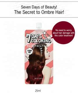 Missha 7 days hair coloring