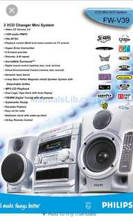 3 VCD changer Mini System