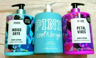 Authentic VS PINK Body Lotions