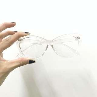(買兩樣商品可送)貓眼 透明造型眼鏡