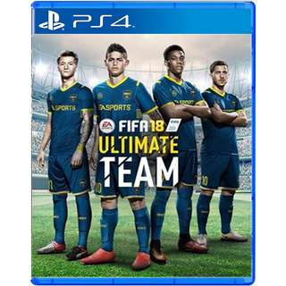 [NEW NOT USED] PS4 FIFA 18 ULTIMATE TEAM SOCCER Sony PlayStation EA Sports Games