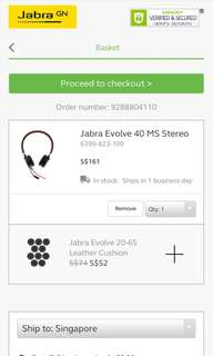 Jabra Evolve 40 MS Stereo headphone