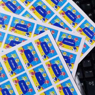 Customized Waterproof Name Stickers (50 pcs)