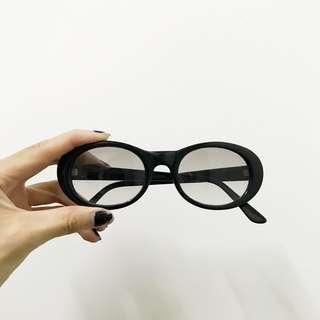 (買三樣或是滿2000送)橢圓古著半透明墨鏡