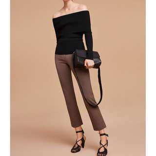 Aritzia off-shoulder fitted knit