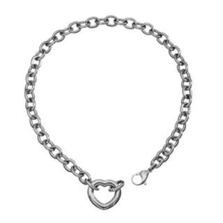 Authentic Guess Heart Love Shape Charm Steel Necklace Choker