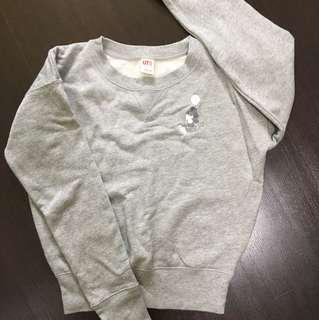 Uniqlo mickey grey pullover sweater size S