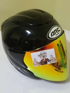2006*** ARC RITZ Black v Gold Visor Helmet For Sale 😁😁Thanks To All My Buyer Support 🐇🐇 Yamaha, Honda, Suzuki