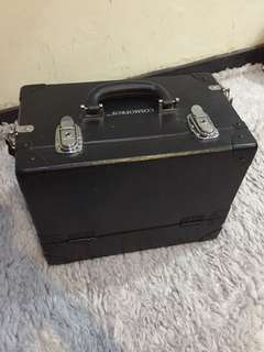 Beauty Case Black / makeup case hitam