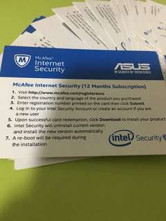 Mc Afee Internet Security Asus