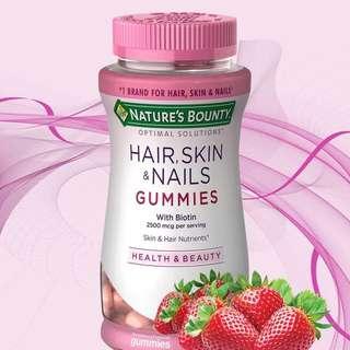 Nature's Bounty 亮髮美肌營養軟糖