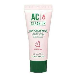 Etude house AC clean up pink powder Sample size