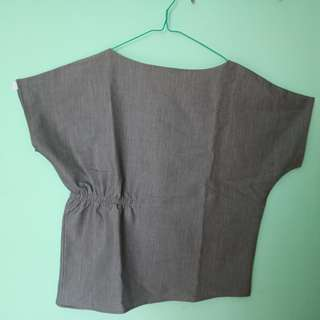 Gray This Is April blouse