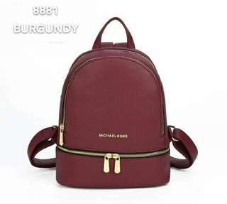 Michael Kors Backpack Burgundy