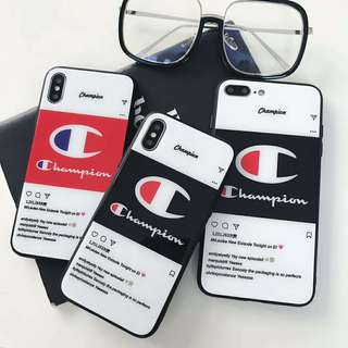 Champion iPhone Glass Case For iPhone 7/8/X