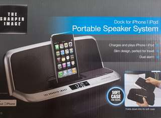 Portable Speaker / Charging Dock for iPhone!