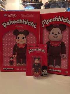 400% + 100% Medicom Toy - Monchhichi Bearbrick 加 peko Monchhichi 100% & 400%