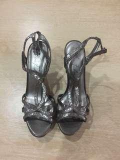 Marc Fisher Snake Skin Grey Sandals