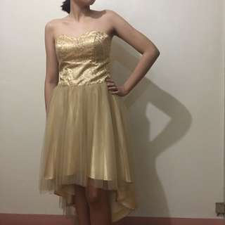 Gold Cocktail Dress perfect for prom/debut/weddings