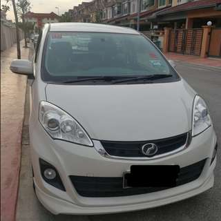 2014 Perodua Alza white auto sale by owner below market value