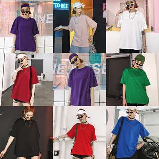 Women Color Oversize Tee 2