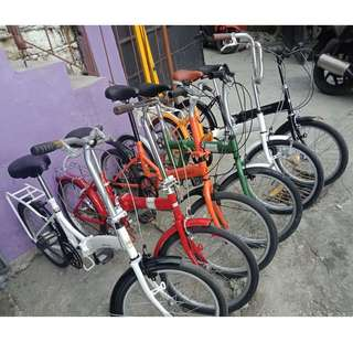 FOR SALE, FOR SALE, FOR SALE!!!  ASSTD. JAPAN FOLDING BIKES  (FREE DELIVERY NA PO!) 3,200 TO 5,000