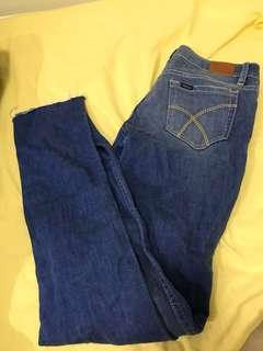 Lee riders low super skinny blue denim jeans