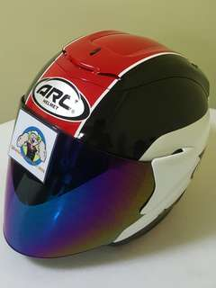 2006*** ARC AR1 TIARA RED with tinted visor Helmet For Sale 😁😁Thanks To All My Buyer Support 🐇🐇 Yamaha, Honda, Suzuki
