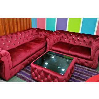 RED VELVET SOFA 2+3 SEATER OFFER!!