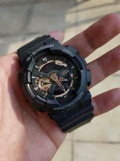GSHOCK BLACK ROSEGOLD WATCH