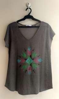 Human Tribal Print See Through Shirt