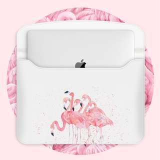 Herd of Pink Majestic Flamingoes Macbook Laptop Sleeve Cover