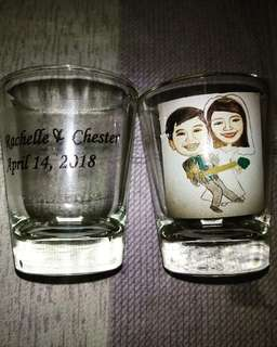Caricature Shot Glass Souvenir