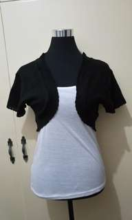 WA751 Black Knitted Bolero (Medium)