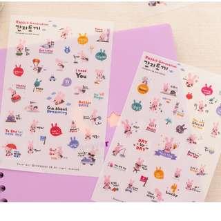 Rabbit Generation Diary Deco Stickers
