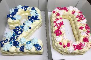 Custom Number Cake