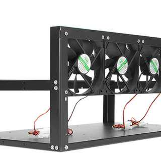 CRYPTOLABS 6 GPU MINING RIG STEEL CASE (FANS INCLUDED)