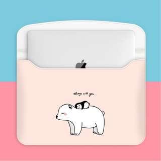 Polar Bear & Penguin Always With You Macbook Laptop Sleeve Cover