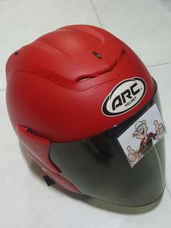 2006*** ARC RITZ Matt RED v Gold Visor Helmet For Sale 😁😁Thanks To All My Buyer Support 🐇🐇 Yamaha, Honda, Suzuki