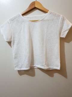 PRE-LOVED: See-through cropped top