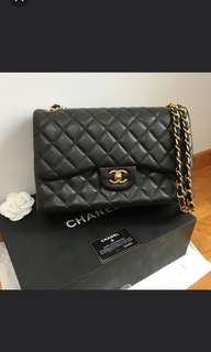 100% Authentic Chanel Cf double flap  Jumbo