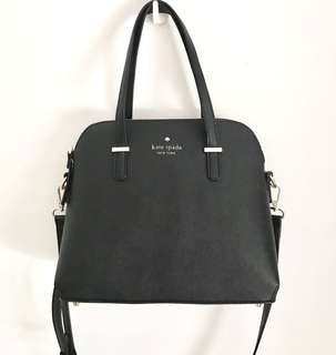 KATE SPADE BLACK DOME CROSSBODY BAG