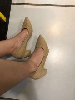 Nude beige pointed block heels like zara aldo mango hnm charles keithcall it spring mk
