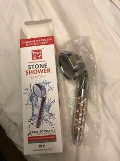 Stone shower head