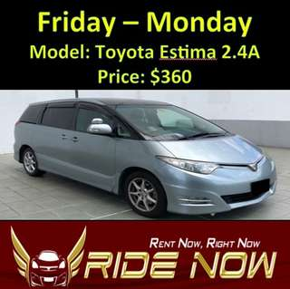 Toyota Estima 2.4A Weekend Rental