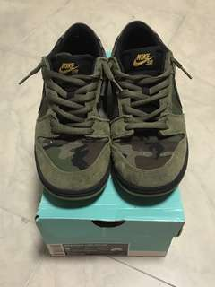 Nike SB Dunk Low 迷彩 US10 99%新