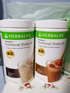 SG set Promo! Herbalife Formula 1 Nutritional Shake Mix