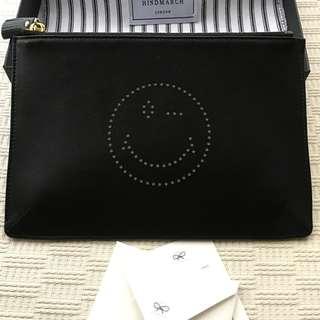 Hindmarch leather XL pouch / handbag
